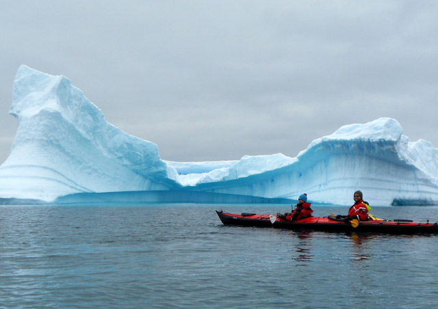 Sailing Antarctica: A highlight of our Antarctica adventure was the opportunity to kayak among seals, penguins, and stunning icebergs!