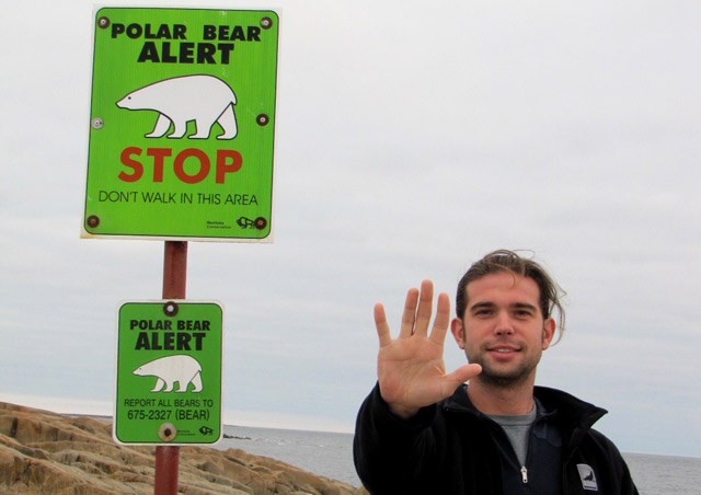 Beware!  Polar bears roam these shores!  Fortunately, we saw bears only from Natural Habitat's custom built Polar Rovers.