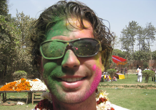 The Indian holiday, Holi, is one of the most colorful celebrations I've ever encountered.  It took days for this colored powder to come out of my skin and hair!
