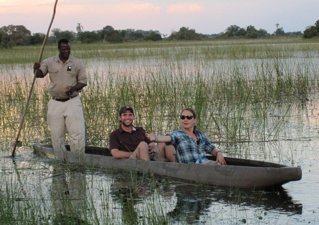 One of the highlights of our time in Botswana was a ride in a traditional mokoro canoe.  The balance required by the guide is impressive!