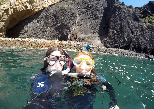 Kit and fellow Nat Hab staff member, Tricia, had a blast snorkeling in the Galapagos Islands.