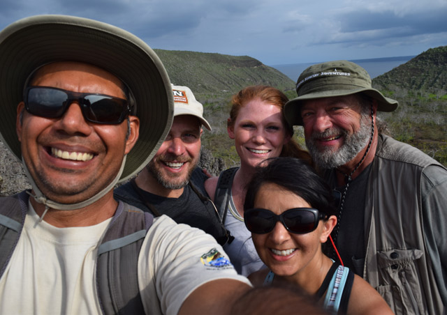 A hike on Isabela Island. Nat Hab's Classic Galapagos Adventure