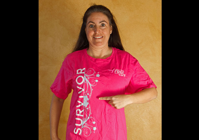 "As many of you know, I was diagnosed with Stage 1 Breast Cancer in July of 2010. I have finished my treatment and feel like that is behind me now. I did participate in the Susan G. Komen Race for the Cure and was really moved to walk in my pink ""Survivor"" shirt surrounded by loving friends."