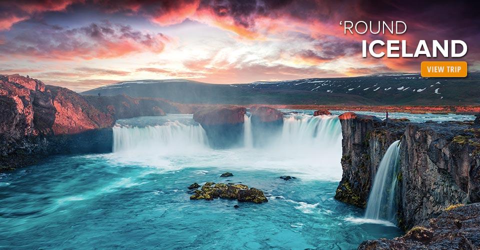 Godafoss Waterfall, Jokulsargljufur National Park, Iceland