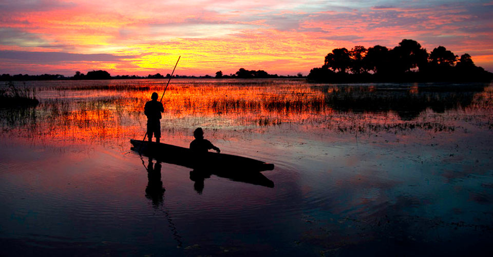 Mokoro, Okavango Delta, Botswana