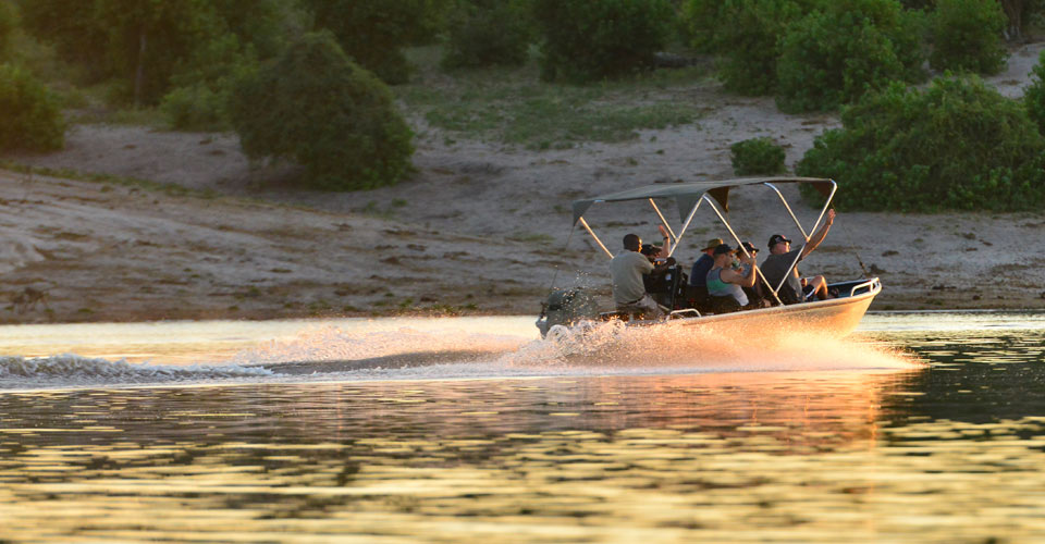 River safari excursion, Chobe River, Namibia