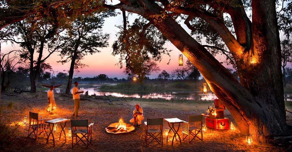 African sunset, Selinda Private Reserve, Botswana