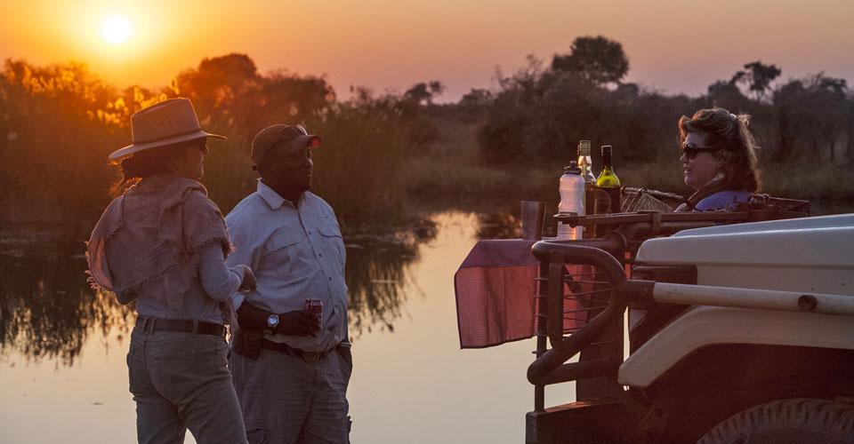 Sundowner, Linyanti Reserve, Botswana