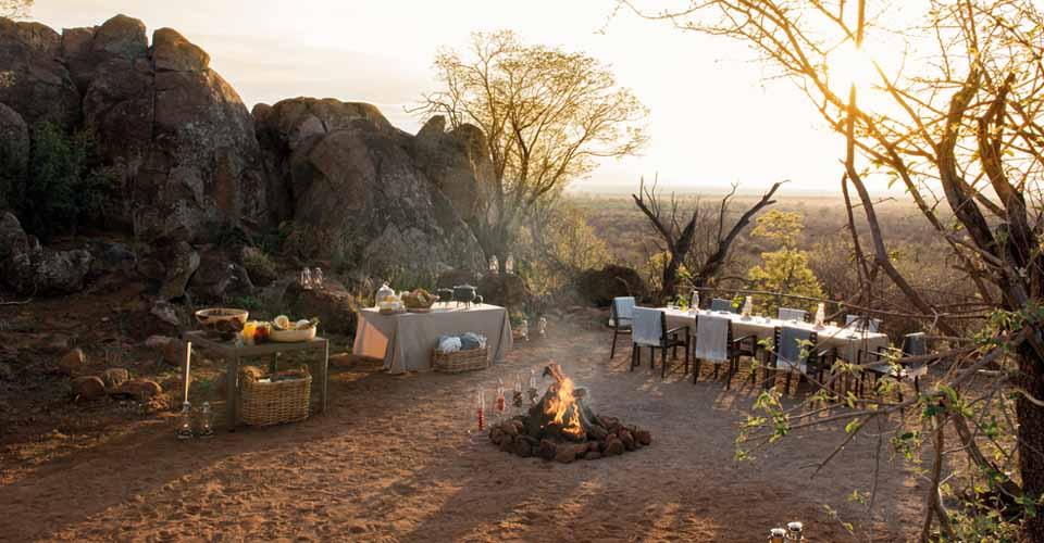 Bush dinner, Madikwe Game Reserve, South Africa