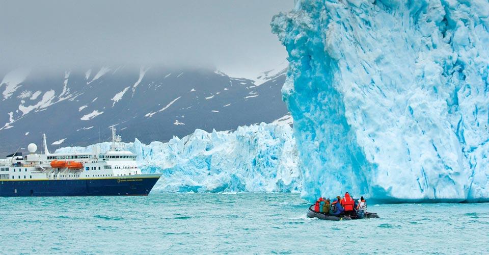 National Geographic Explorer, Monaco Glacier, Svalbard
