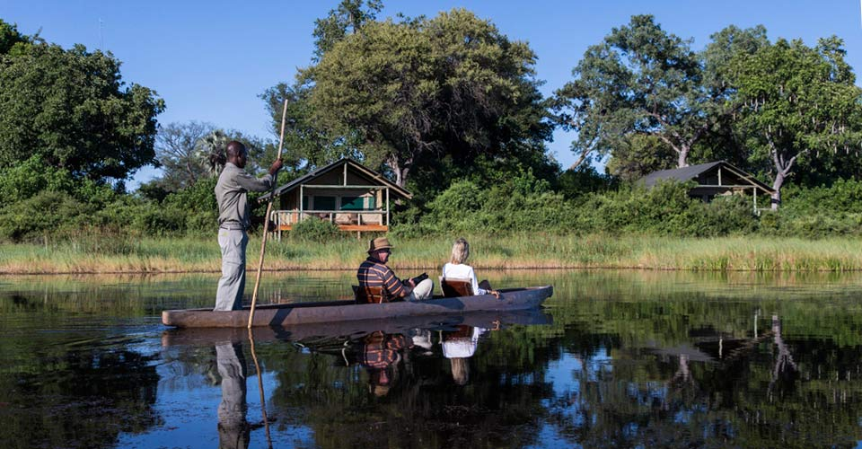 Mokoro, Seba Camp, Okavango Delta, Botswana