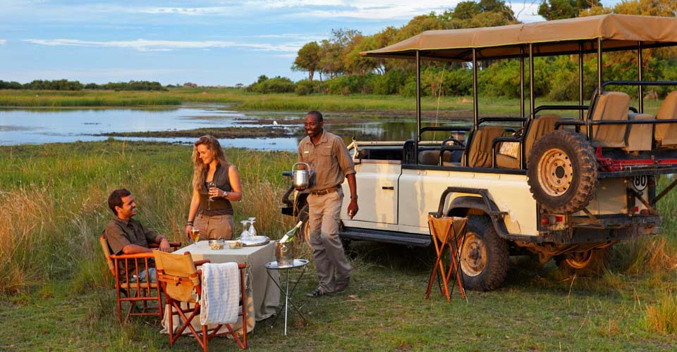 Sundowner, Linyanti Private Reserve, Botswana