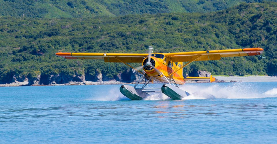 Float plane, Katmai National Park, Alaska