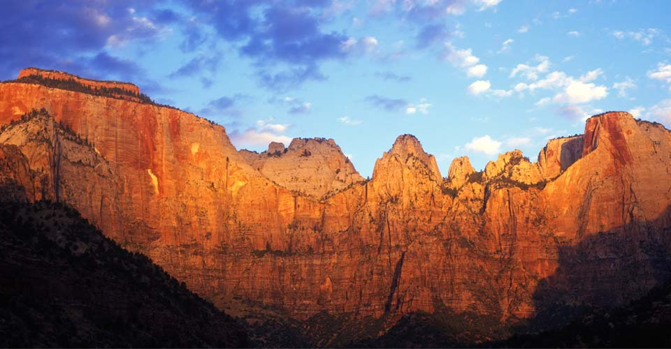 West Temple and Sundial peaks, Zion National Park, Utah