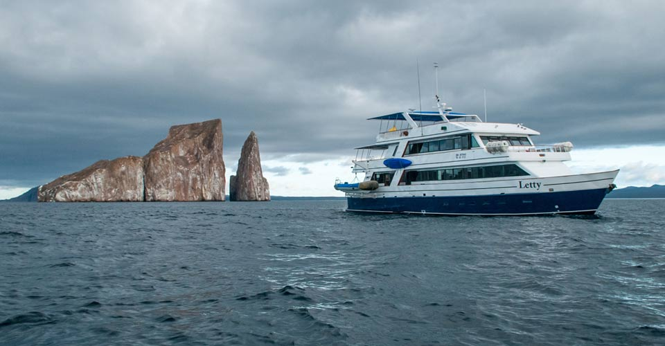 M/Y Letty and Kicker Rock, Galapagos Islands, Ecuador