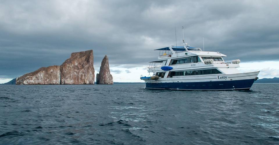 M/Y Letty and Kicker Rock, Galapagos Islands, Ecuador