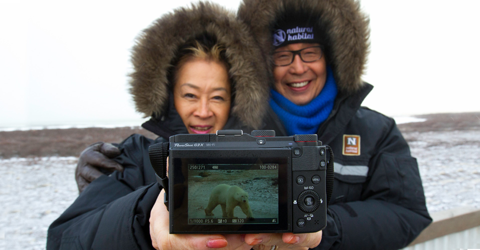 Photographers aboard the Polar Rover, Churchill, Manitoba, Canada