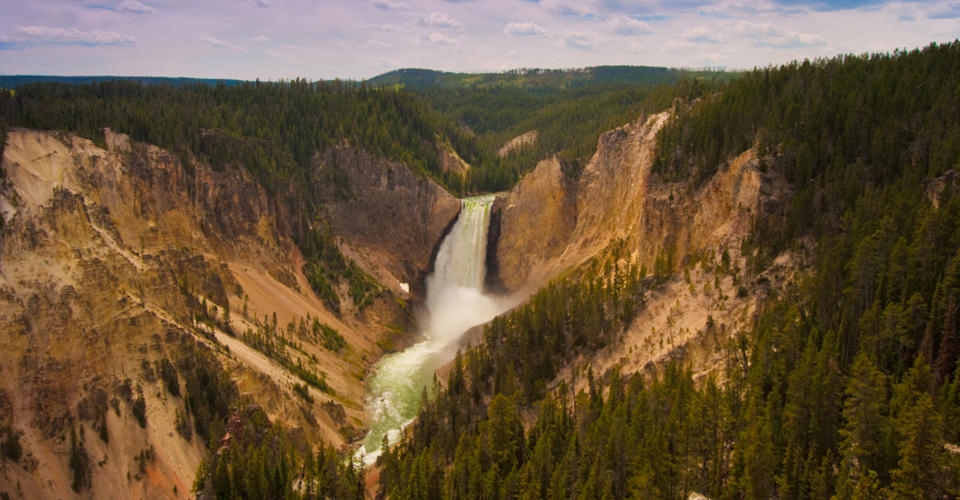 Lower Falls, Yellowstone River, Yellowstone National Park, Wyoming, USA