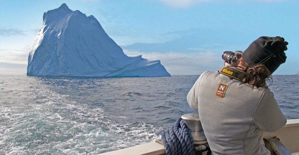 Zodiac cruising, Sermilik Fjord, Greenland