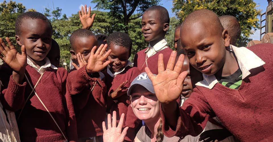 Local schoolchildren, Nairobi, Kenya