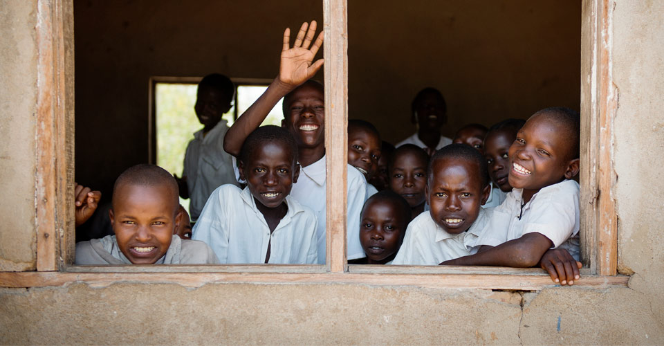Local primary school visit, Tanzania