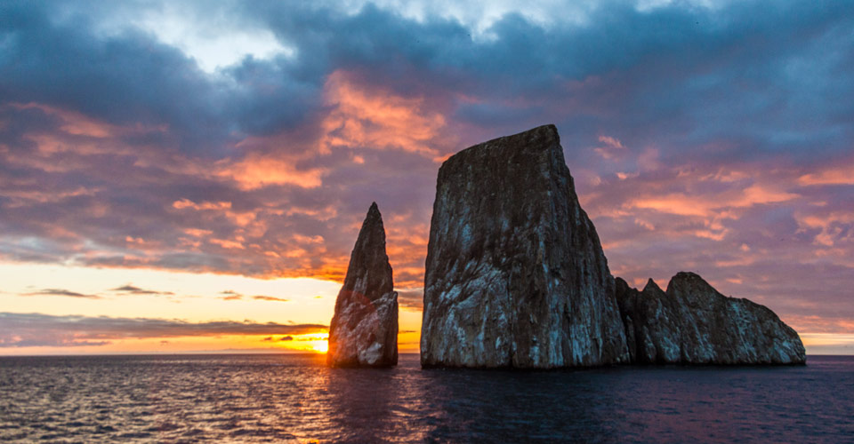 Sunset, Kicker Rock, Galapagos Islands