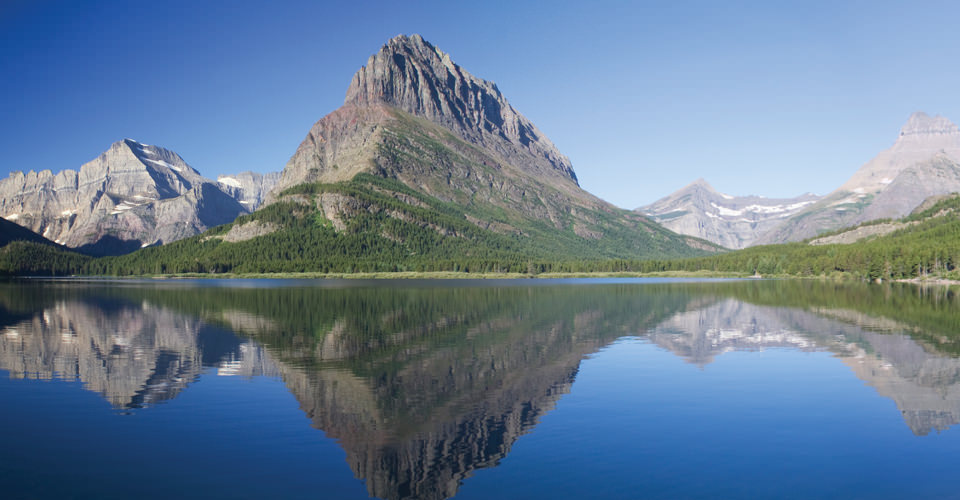 Swiftcurrent Lake & Grinnell Point, Glacier National Park, Montana, USA
