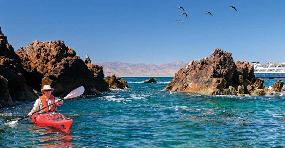 Kayaking, Isla San Marcos, Sea of Cortez, Baja California, Mexico