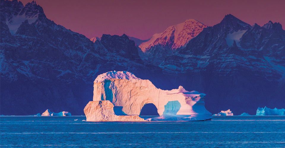Iceberg arch, Davis Strait, Greenland