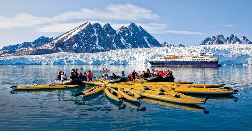 Kayaking, Monaco Glacier, Svalbard