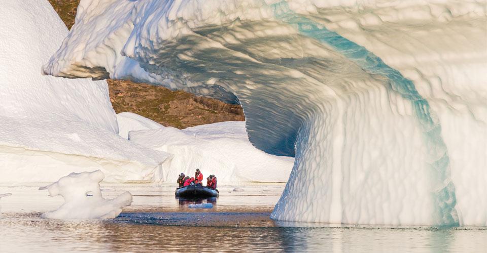 Zodiac cruise, Scoresby Sound, Greenland