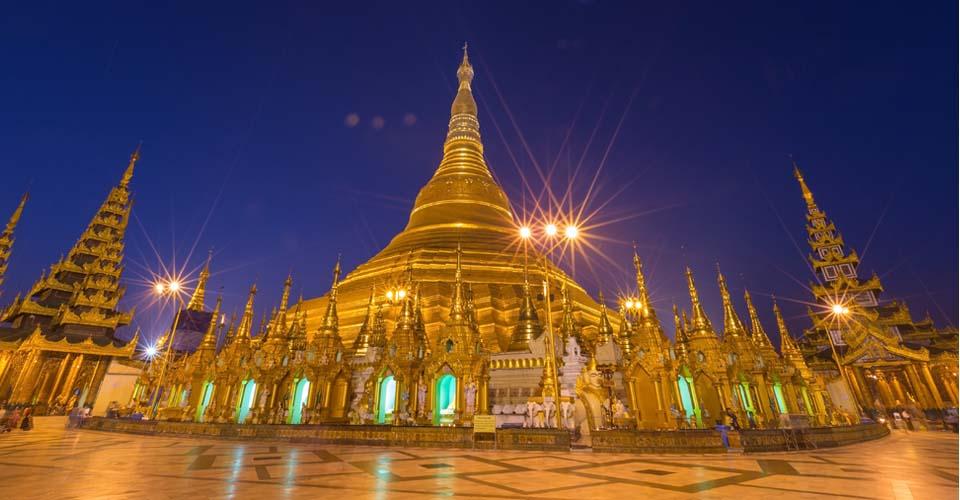 Shwedagon Pagoda, Yangon Region, Yangon, Myanmar