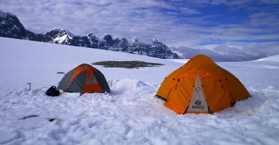 Overnight camp option, Dorian Bay, Antarctica