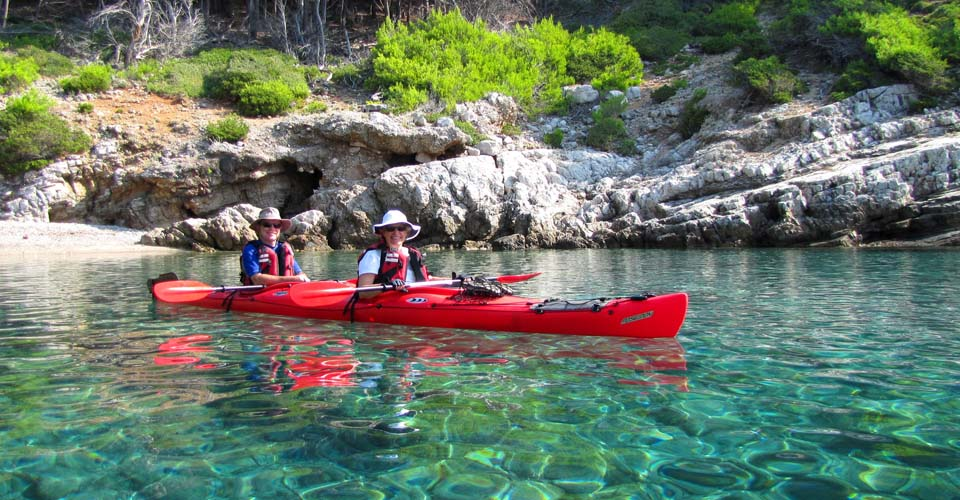Kayaking, Mljet National Park, Croatia