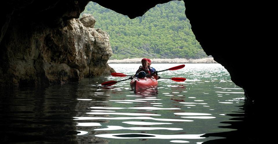 Kayaking, Mljet National Park, Croatia