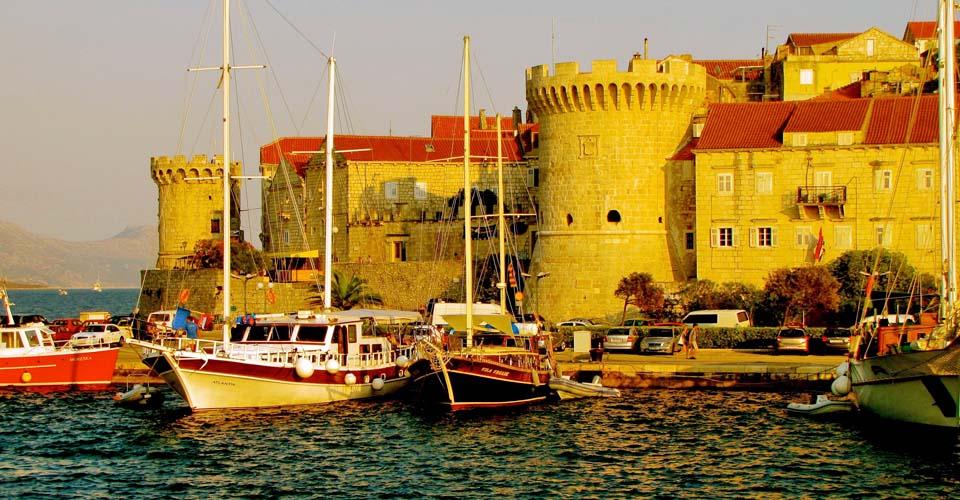 Korcula Harbor, Korcula Island, Croatia