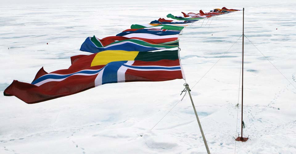 Flags, North Pole