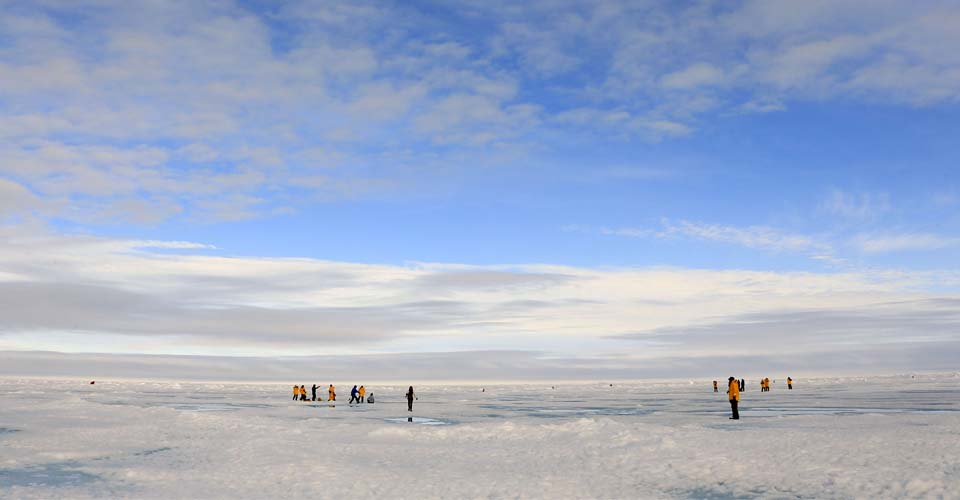 Walking on ice, North Pole