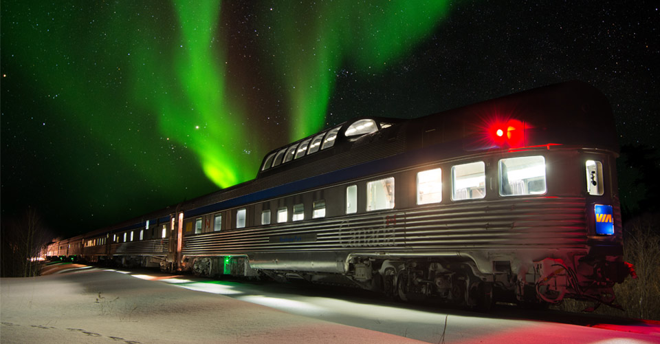Tundra Train Observation Car, Manitoba, Canada