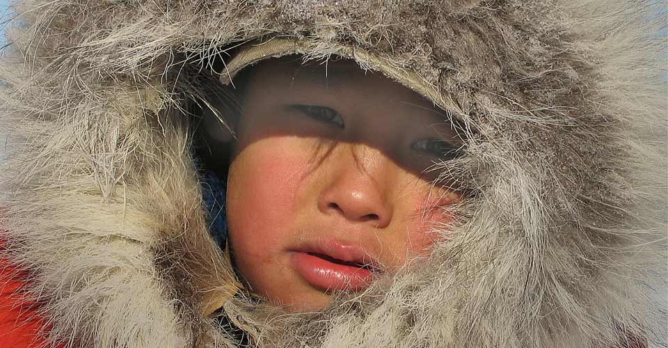 Aboriginal child, Churchill, Manitoba, Canada