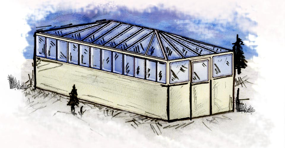 Artist's rendition of Natural Habitat's New Aurora Pod, Churchill,