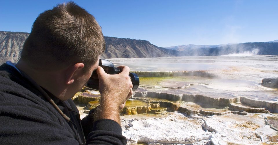 Photographing Mammoth Hot Springs, Yellowstone National Park, Wyoming