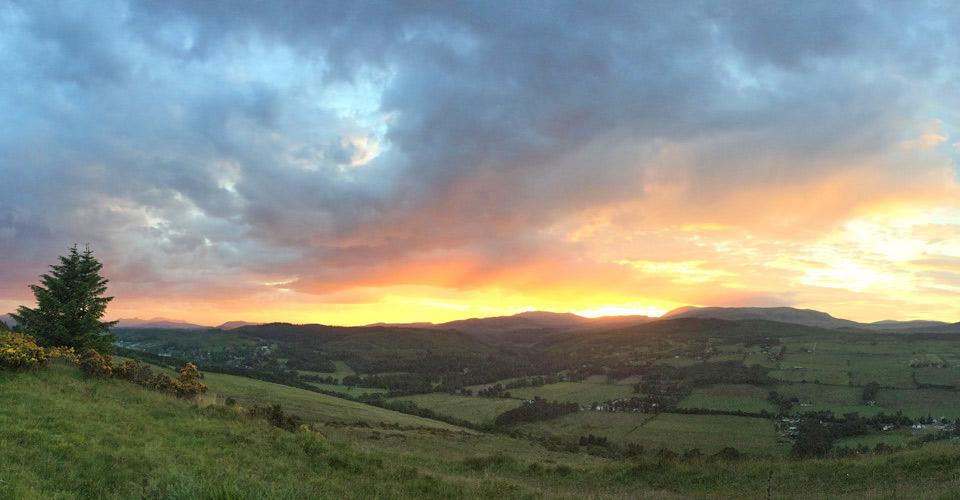 Countryside near Contin, Scotland