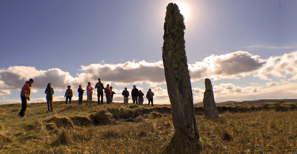 Standing stones, Outer Hebrides, Scotland