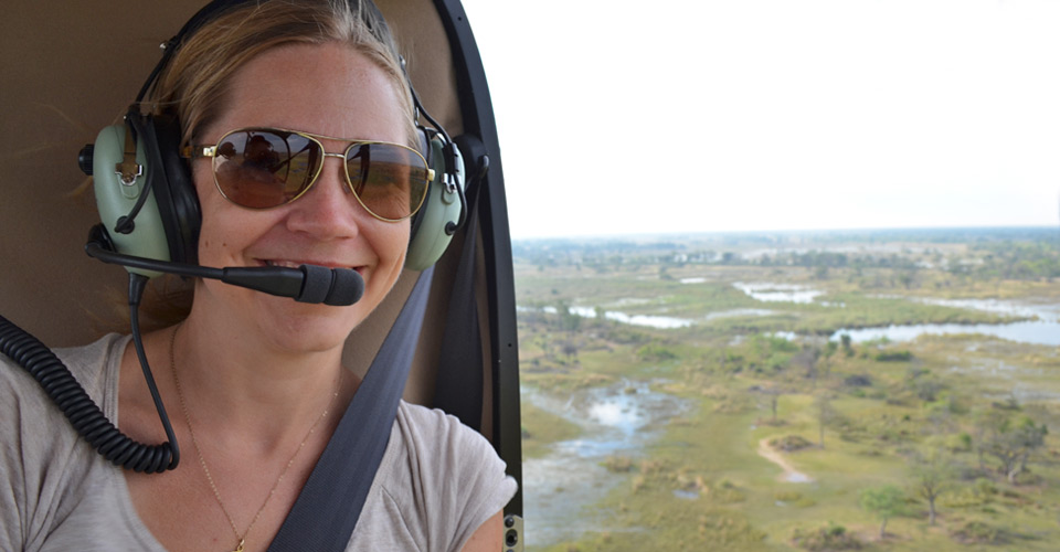 Helicopter safari, Santawani Private Concession, Botswana