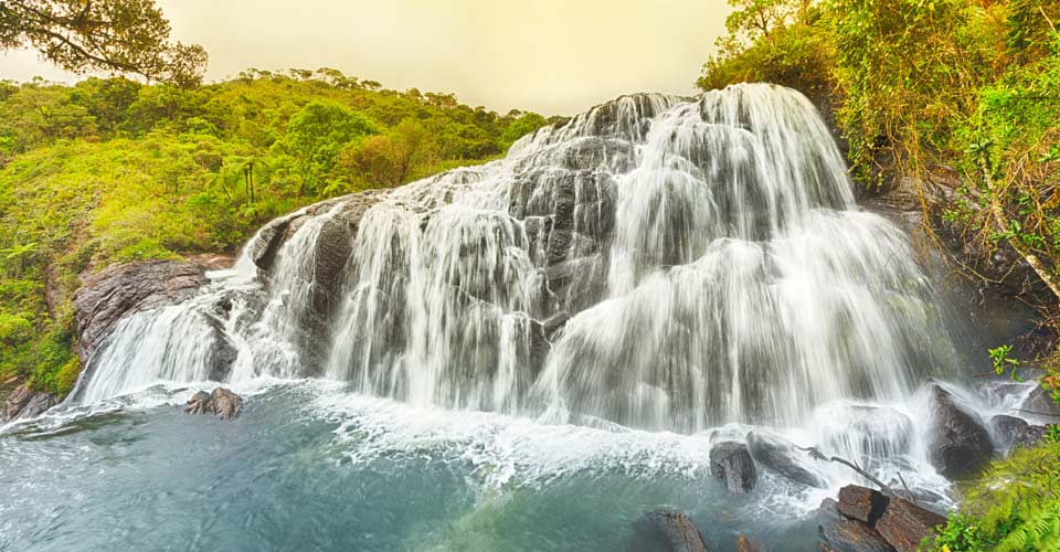 Baker's Falls, Horton Plains, Sri Lanka