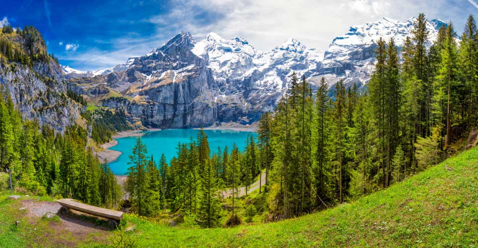 Oeschinnensee Lake, Switzerland