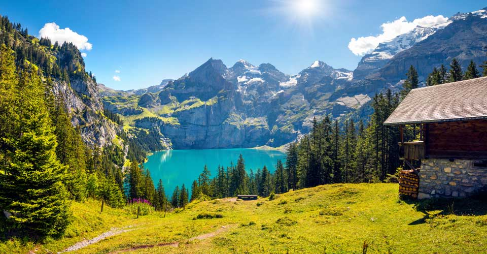 Oeschinensee Lake, Switzerland