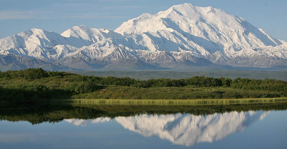 Reflection Pond and Mt. Denali, Denali National Park, Alaska