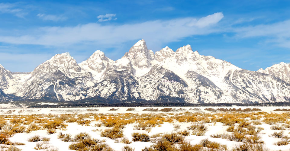 The Teton Range, Grand Teton National Park, Wyoming, USA